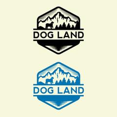 Vintage Outdoor logo and landscape illustration design template