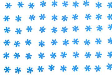 beautiful blue snowflakes on white background