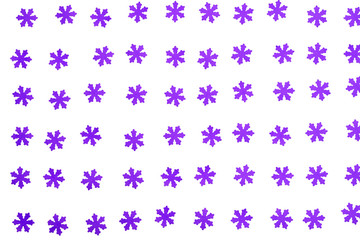 beautiful purple snowflakes on white background
