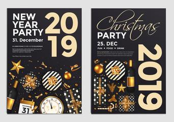Christmas Party Flyer Design- golden design 2019 5