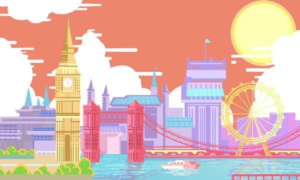 London bridge synthetic illustration