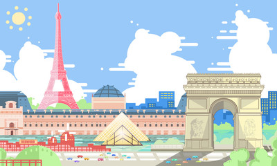 Paris synthetic illustration