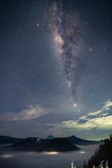 Milky way over Bromo Tengger Semeru National Park
