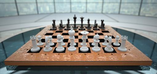 Chessboard Glass Room