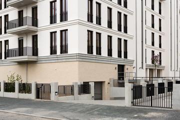 modernes Wohnhaus in der Stadt