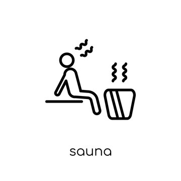 Sauna icon from Hotel collection.