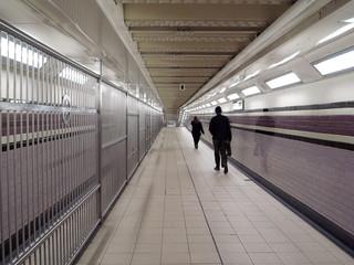 London,United Kingdom-October 11, 2011: Passageway in London Arsenal Tube station