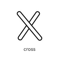 Cross icon. Trendy modern flat linear vector Cross icon on white background from thin line Religion collection