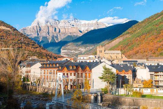 beautiful town of pyrenees, spain