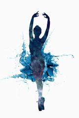 The outline of a ballet dancer