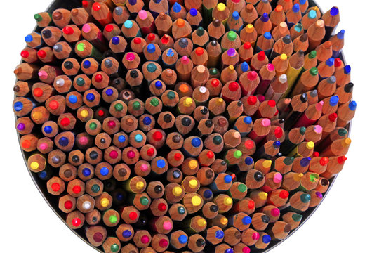 many crayons in the jar