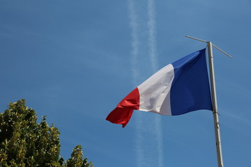french flag in the sky