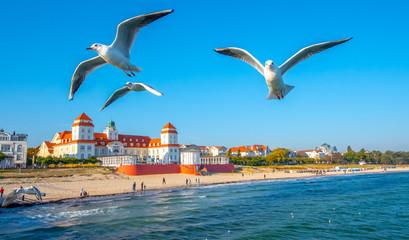 Foto op Plexiglas Centraal Europa Strandpromenade Binz auf Rügen