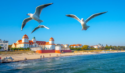 Foto op Canvas Centraal Europa Strandpromenade Binz auf Rügen