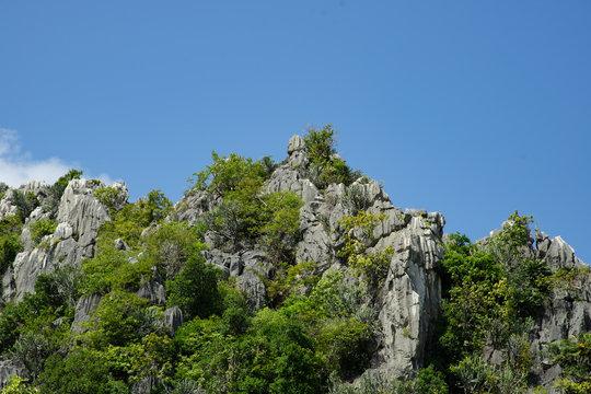 Peak limestone mountains