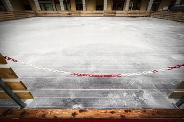 Closed ice skating park