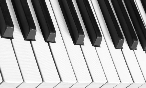 Perfect background of a keyboard  piano