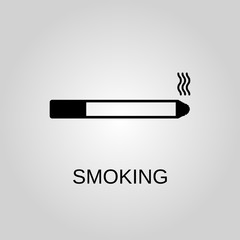 Poster Positive Typography Smoking icon. Cigarette concept symbol design. Stock - Vector illustration can be used for web.