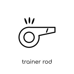 Trainer Rod icon. Trendy modern flat linear vector Trainer Rod icon on white background from thin line Gym and fitness collection