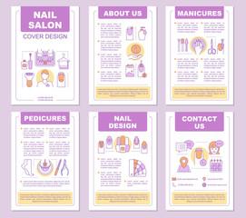 Nail salon brochure template layout