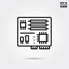 motherboard vector line icon