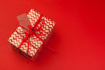 gift box on color background