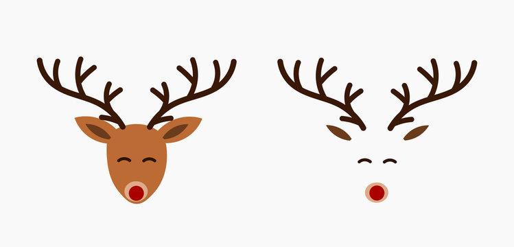 Cute reindeer heads