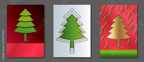 collection a4 size templates with christmas tree covers for flyers