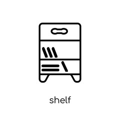 Shelf icon from Furniture and household collection.