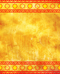 Grunge background with ethnicity ornaments
