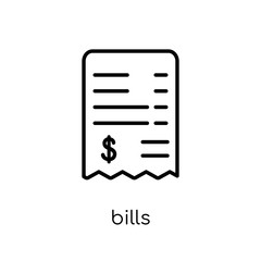 Bills icon from Payment collection.