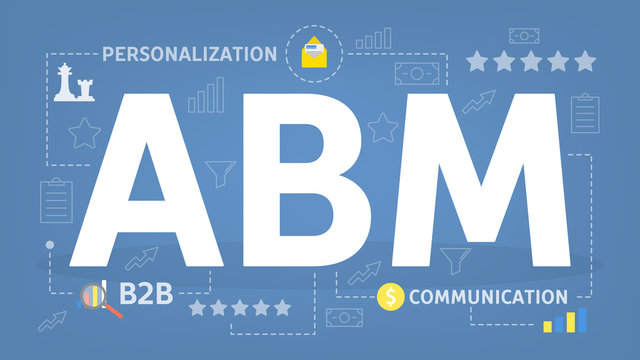 ABM or account based marketing concept. Personalization