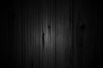 Black wood plank, empty background and texture