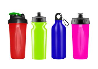 Plastic shaker in vector on white background.