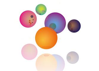 背景 図形 立体 球