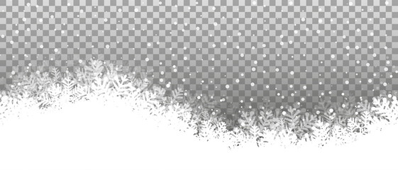 Wall Mural - Swing snowy background transparent vector