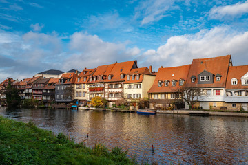 bamberg, city houses at river regnitz