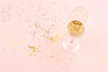 Creative New Year glass
