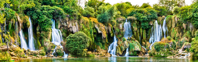 Fotobehang Watervallen Kravica waterfalls on the Trebizat River in Bosnia and Herzegovina
