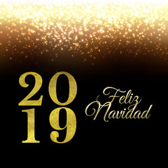 Golden New Year Background With Glitter