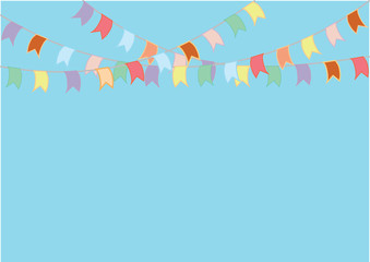 Buntings flags garlands. Celebrate banner. Party flags.