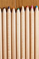 Row of blunt pencils