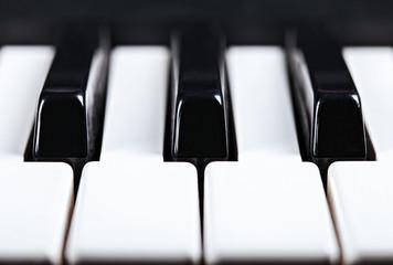 Piano keys front view