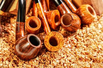 Various smoking pipes