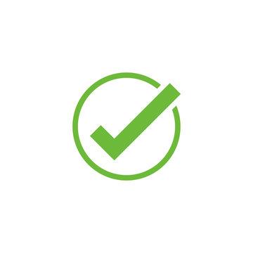 Vector check mark icon. Approve symbol. Check mark shape. Design element mobile app interface card or website