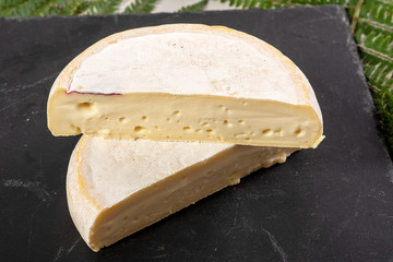 closeup of french cheese reblochon, Savoie product
