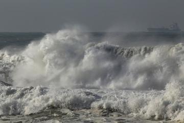 Stormy breaking wave