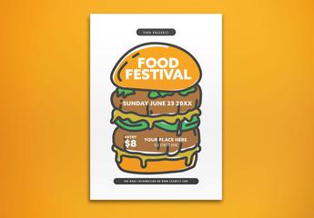 Food Festival Invitation Layout