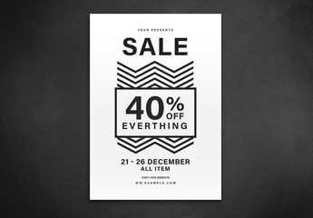 Sale Flyer Layout