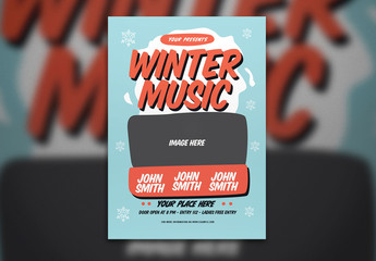 Winter Music Event Flyer Layout